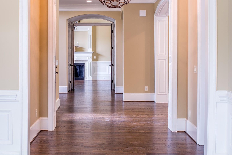 Clean home hallway