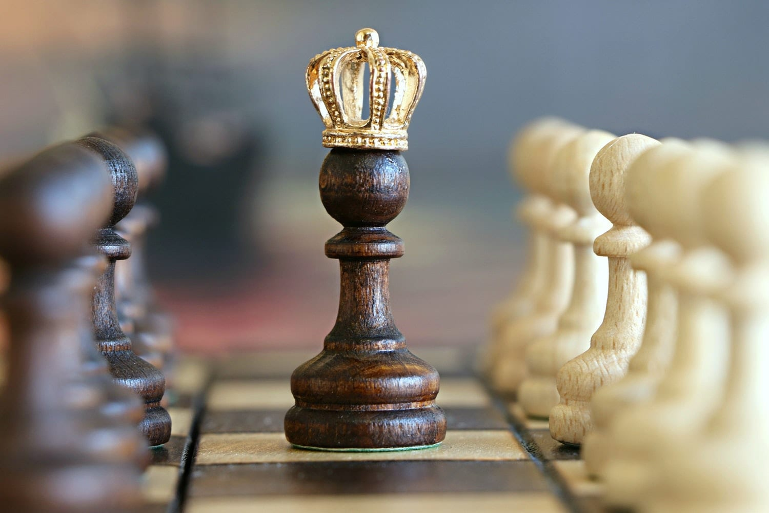 Chess piece with crown